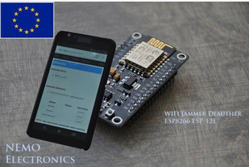 WIFI Jamming Deauther V2.1.0 ESP8266 ESP12E Tested Plug and Play EU stock TOP