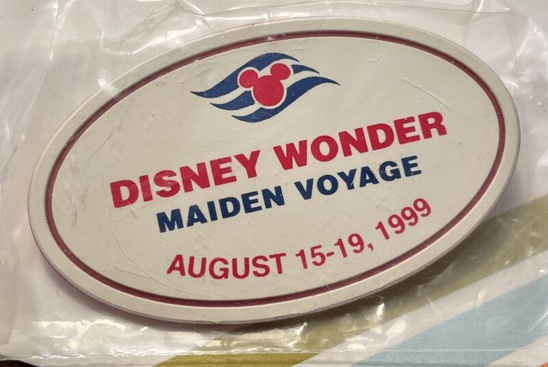 Disney Cruise Line WONDER Cast Exclusive Maiden Voyage Nametag Pin 1999 RARE