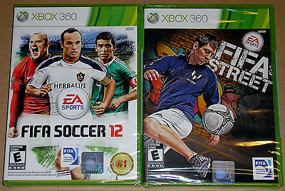 Xbox 360 Game Lot - FIFA Soccer 12 (New) FIFA Street (New) for sale  Shipping to India
