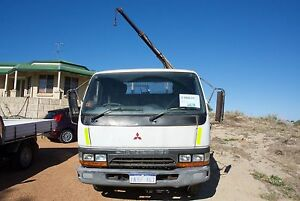 1996 Mitsubishi Canter SWB With working Crane Golden Bay Rockingham Area Preview