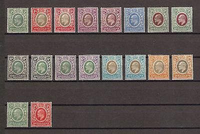 SOMALILAND 1905 SG45/59 & All Chalky Papers Fine Mint Cat £265