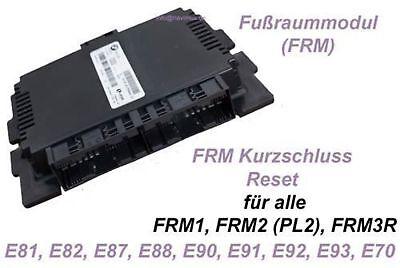 BMW Fußraummodul FRM Kurzschluss Licht Reset E81 E82 E87 E88 E90 E91 E92 E93 E70
