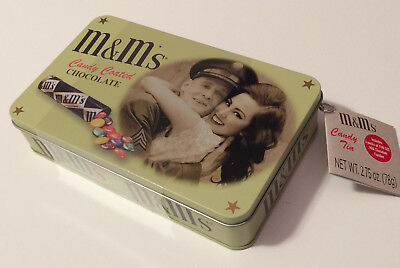 M&M's Candy Tin - WWII Soldier Military Couple 2018 Collectible - New & Sealed