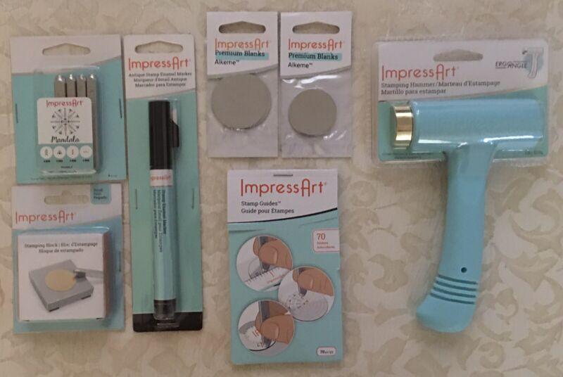ImpressArt Stamping Kit Hammer Mandala Stamp Stamping Block Marker Blanks Guides
