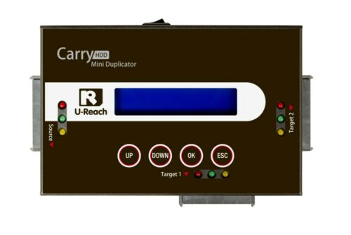Ureach 1:2 Portable SATA Hard Drive HDD/SSD Duplicator/Sanitizer 9GB/Min PRO218
