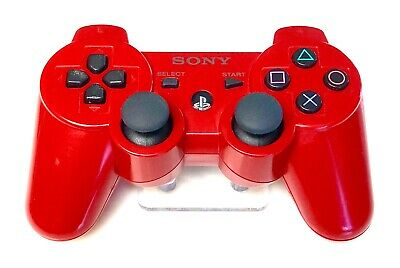 Genuine OEM Sony Playstation 3 PS3 SixAxis DualShock 3 Controller Gamepad - RED