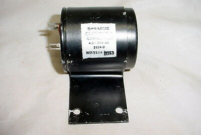 Sprague Clorinol Oil Capacitor 4uf 4mf 330vac - Tested Good