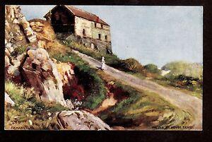 Tuck-Quaint-Corners-art-signed-Emanuel-the-old-Ice-House-Tenby-Wales-UK-postcard