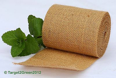 Natural Jute Burlap Hessian Ribbon Rustic Weddings Belting Strap Craft Floristry