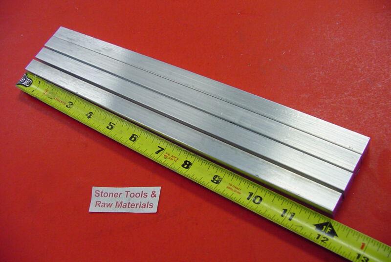 "4 Pieces 1/2"" X 1/2"" ALUMINUM SQUARE FLAT BAR 12"" long 6061 T6511 New Mill Stock"