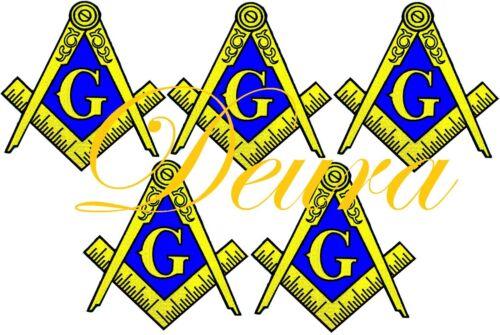 "5 Lot 10"" Large Masonic Logo EMBROIDERED PATCH iron-on FREEMASON SQUARE COMPASS"