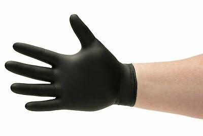 100 Pcs Black Gloves Nitrile Powder Free Latex Rubber Heavy Duty Durable Medium