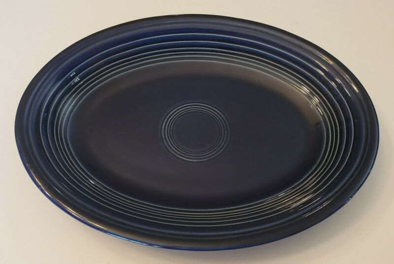 Vintage Homer Laughlin Fiestaware Cobalt Blue Serving Platter