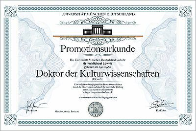 Premium Doktortitel,  personalisiert,  fälschungssicher mit SIEGEL