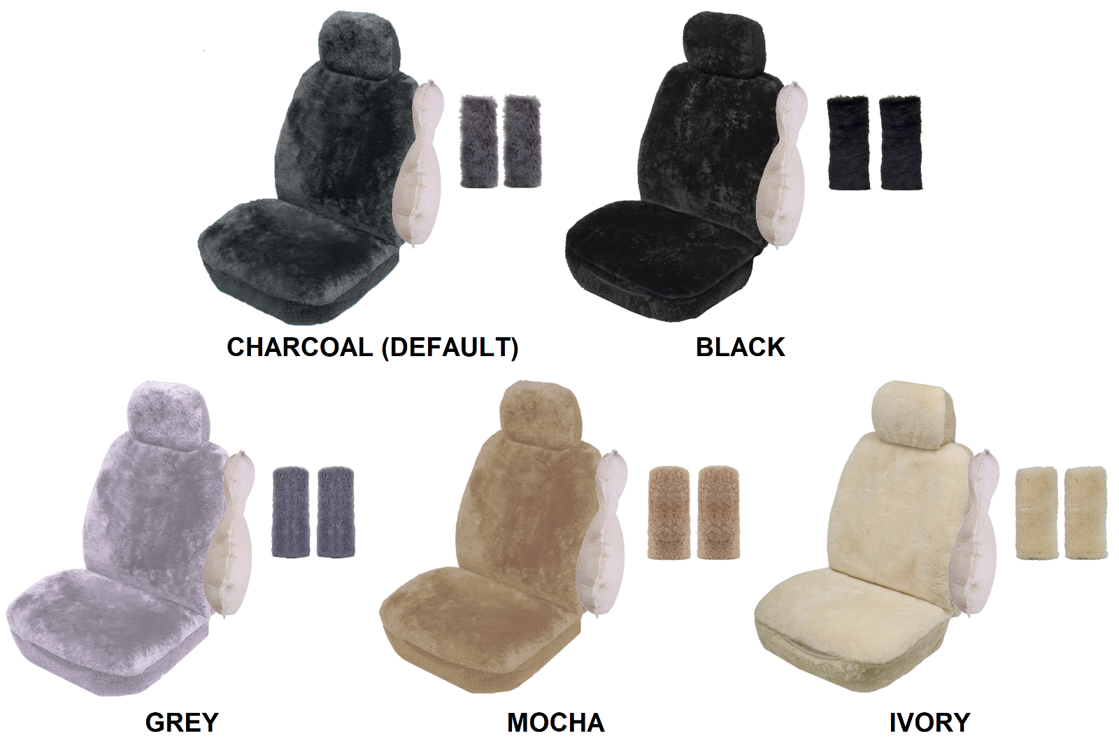 SINGLE 20mm SHEEPSKIN SEAT COVER PACK FOR FORD ESCAPE FWD (PK 3)