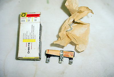 Nos Ohmite Dividohm Adjustable Resistor - 10 Ohms 10 Watts.