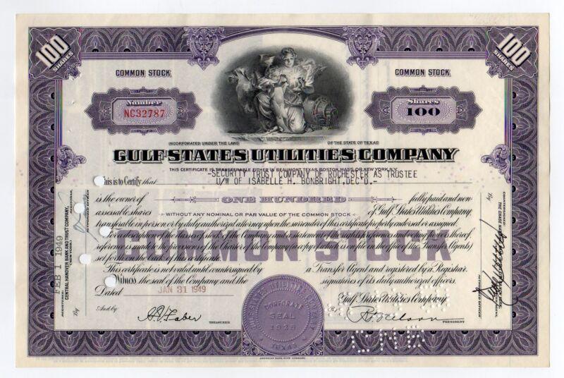 Gulf States Utilities Company stock