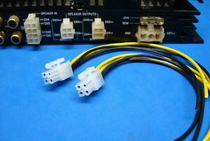 alpine 2 4 pin plugs amplifier amp speaker wire harness ... alpine 7380 wiring harness alpine amps wiring harness