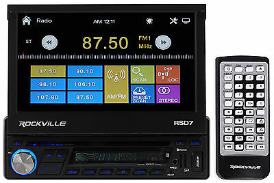 "Rockville 7"" Car DVD/CD Player Stereo Receiver Monitor+Bluetooth/iPhone/Pandora"