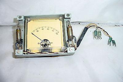 Vintage Ampex Simpson 0-100 Analog Panel Meter W Frame And Lights - Tested Good