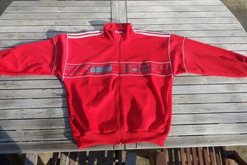 Veste jogging survêtement vintage adidas rouge f186 d7
