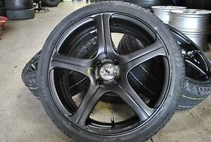 """4 SET SPORT 17"""" ALLOY WITH TYRES + 4x100 STUDS + GOOD CONDITION Virginia Brisbane North East Preview"""