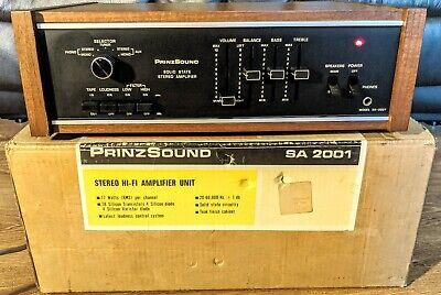 Rare Vintage PrinzSound SA-2001 Solid State Stereo Amplifier Hifi Separates VGC
