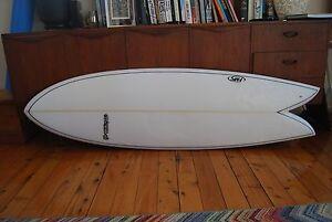 "6'0"" retro twin-keel surfboard like Gary McNeill Rasta Torus Twin Lilyfield Leichhardt Area Preview"