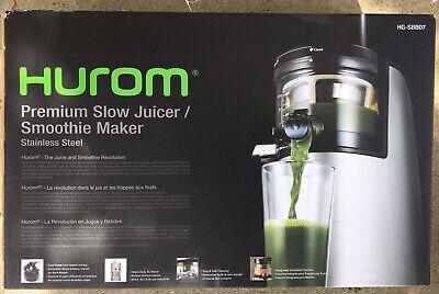 Hurom Premium Slow Juicer / Smoothie Maker Model HG-SBB07 Stainless Steel