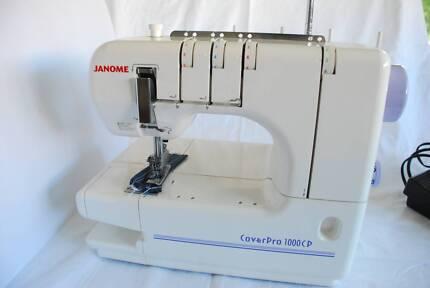 Janome CoverPro 1000CP Coverstitch Sewing Machine AND Accessories