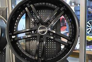 """4 SET 22"""" BLACK ALLOY WHEELS HOLDEN COMMODORE + GOOD CONDITION Virginia Brisbane North East Preview"""