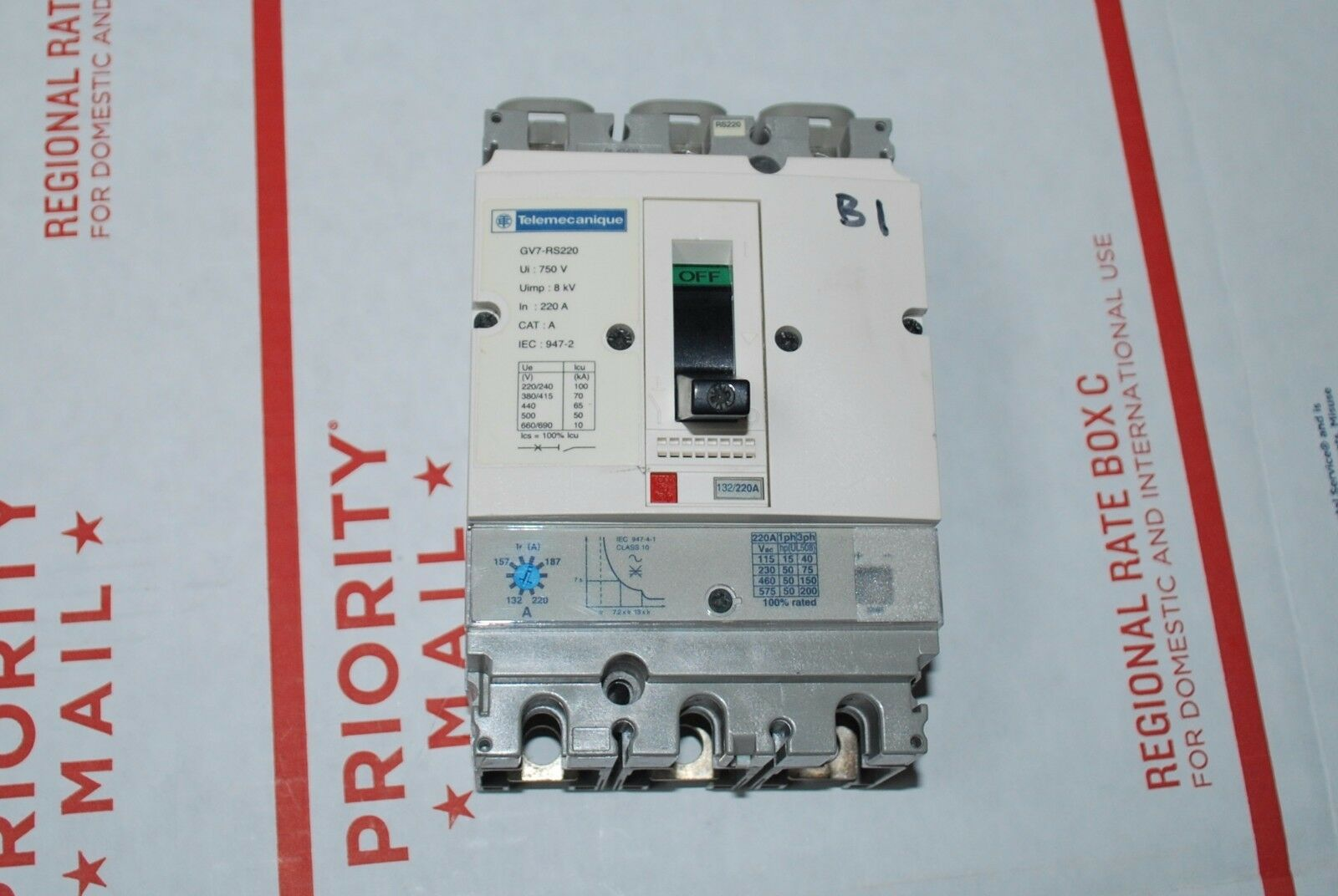 Upc 785901504832 Schneider Electric Gv7rs220 Motor Starter Manual 240 3 Phase Contactor Wiring Product Image For Gv7 Rs220 220 Amp Pole Circuit Breaker