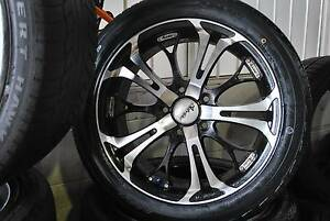 "4 SET 17"" ALLOY WHEELS WITH TYRES COMMODORE5X120 + GOOD CONDITION Virginia Brisbane North East Preview"