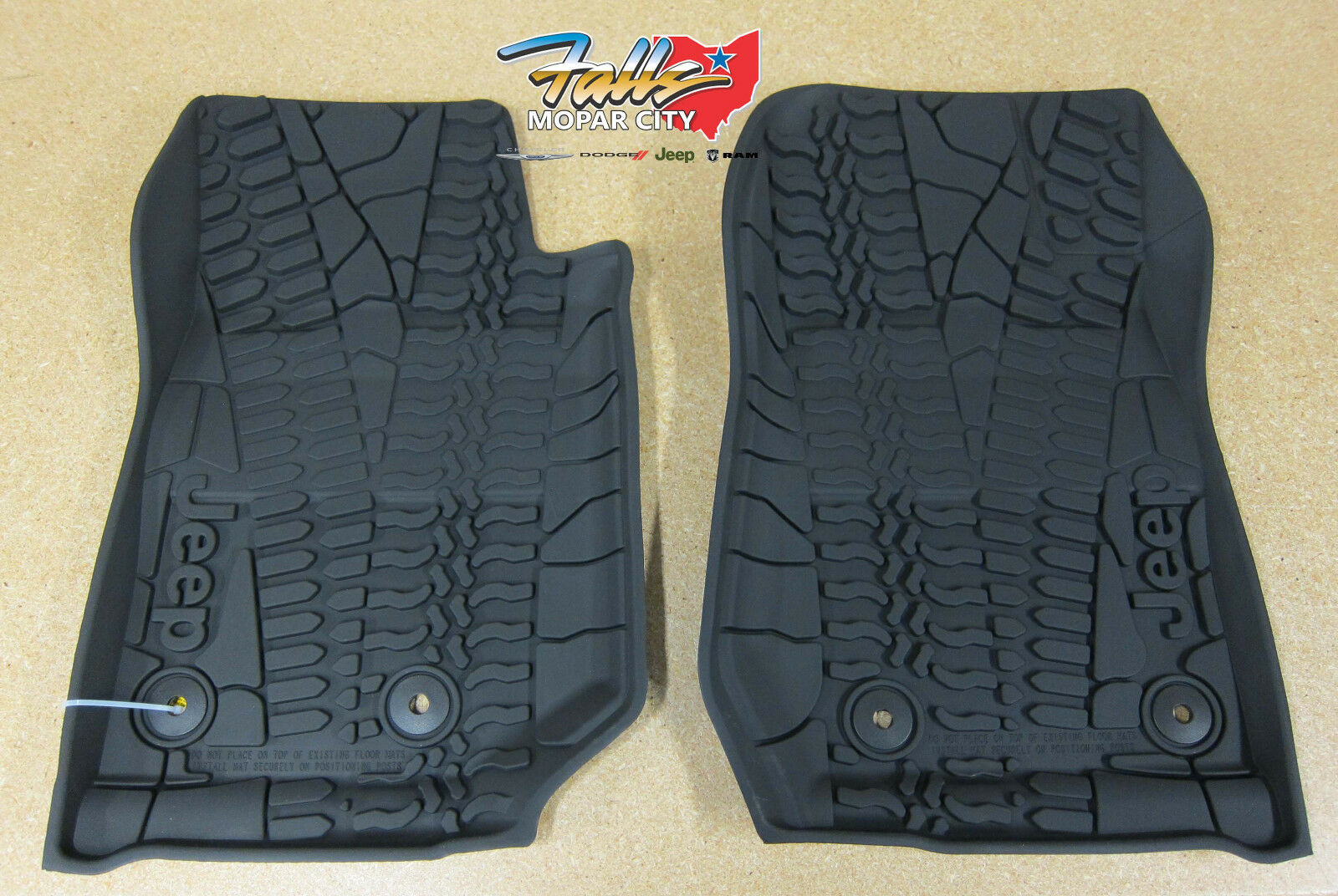 jk wrangler jeep rubber door itm mats floor weather all for mopar slush mat oem