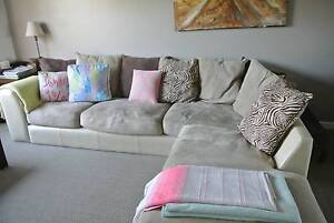Lounge Suite with chaise West Lakes Shore Charles Sturt Area Preview