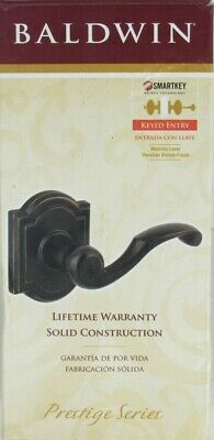 Baldwin Prestige Madrina Keyed Entry Lever Door Lock Venetian Bronze SCUFFED