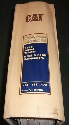 Cat Caterpillar 814b Tractor 815b 816b Compactor Service Shop Repair Book Manual