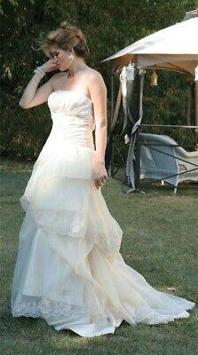 Victorian Trading Co Cream Pouf White/Ivory Wedding Gown Dress Sz 8
