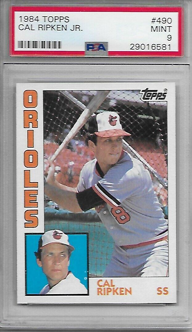 Cal Ripken Jr 1984 Topps 490 PSA 9 Mint HOFer - $26.00