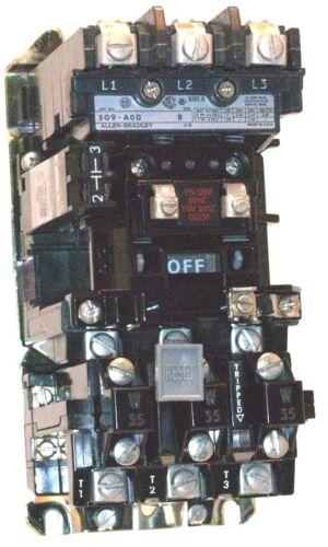 Allen Bradley motor starter 509-A0D Ser. B  Complete W35 heaters 596 Aux. N.O.