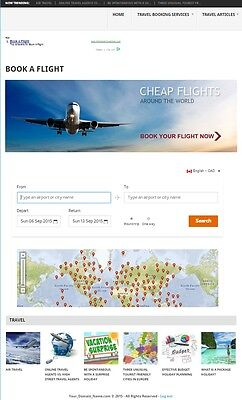 Travel And Vacation Booking Website Business Domain For Sale Fully Automated