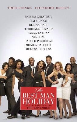 THE BEST MAN HOLIDAY MOVIE POSTER 2 Sided ORIGINAL 27x40 MORRIS