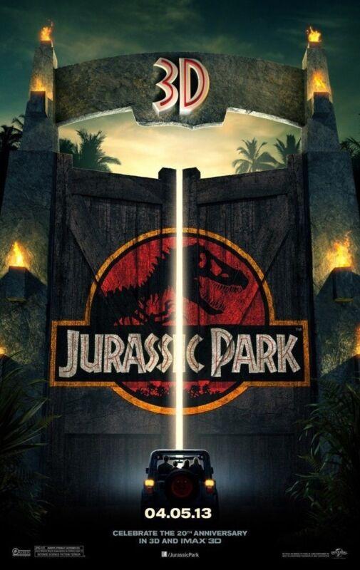 Jurassic Park 3d Movie Poster 2 Sided Original Advance 27x40 Steven Spielberg