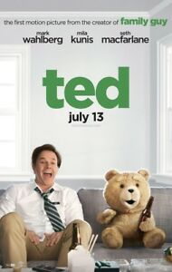 TED MOVIE POSTER 2 Sided ORIGINAL Advance Ver B 27x40 MARK WAHLBERG