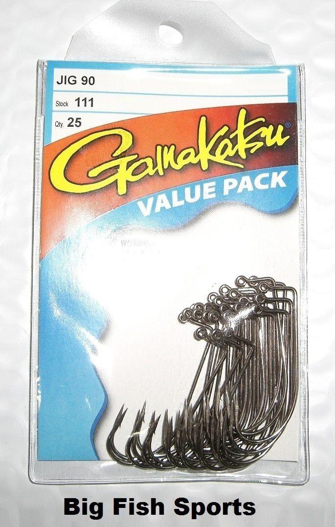 Choisissez votre taille! Gamakatsu #184 Live Bait NSB Value Pack 25 Crochets NOUVEAU