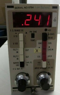 Unholtz-dickie Model D33pm Signal Conditioner Unit Powers Up