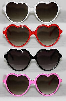 Herz Sonnenbrille filigran Heart Shaped Boho Style schwarz pink rot weiß #81