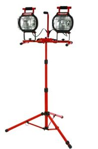 Husky Halogen Dual Work Light with Stand