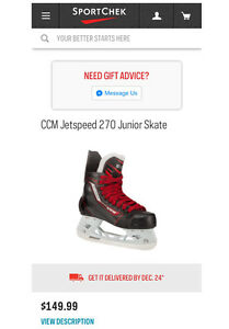 Youth CCM Jetspeed 270 Junior Skate (size 13) London Ontario image 4