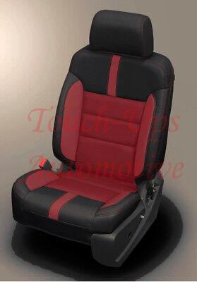 2014-2018 GMC Crew Cab SLE KATZKIN Black Cardinal Sierra Leather Custom Cardinal